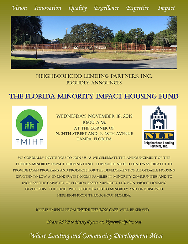 Announcing the Florida Minority Impact Housing Fund